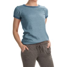 Alternative Apparel Ideal Ringer Eco-Mock Twist T-Shirt - Short Sleeve (For Women) in Eco Mock Storm - Closeouts