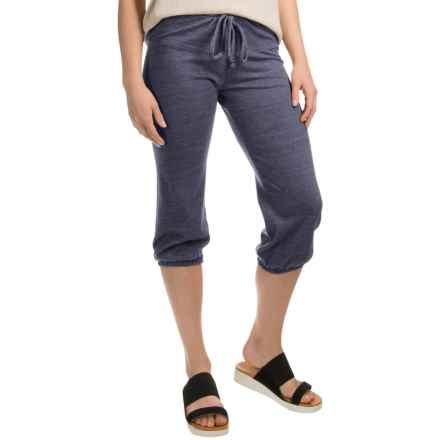 Alternative Apparel -Jersey Joggers (For Women) in Eco True Navy - Closeouts