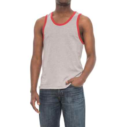Alternative Apparel Keeper Tank Top (For Men) in Smoke Grey/Red - Overstock