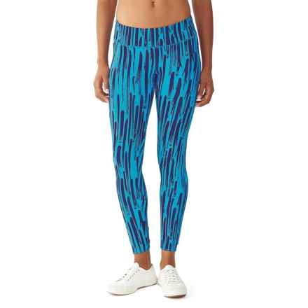 Alternative Apparel Lean Into It Print Leggings (For Women) in Cambridge Blue Brushstrokes - Closeouts