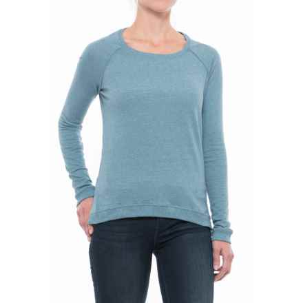 Alternative Apparel Locker Room Mock Twist Shirt - Long Sleeve (For Women) in Eco Mock Storm - Closeouts