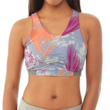 Alternative Apparel Peekaboo Print Sports Bra - Low Impact (For Women) in Ice Blue Beach - Closeouts
