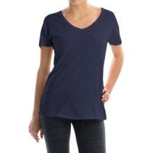 Alternative Apparel Perfect V-Neck T-Shirt - Organic Cotton, Short Sleeve (For Women) in Midnight Heather - Closeouts