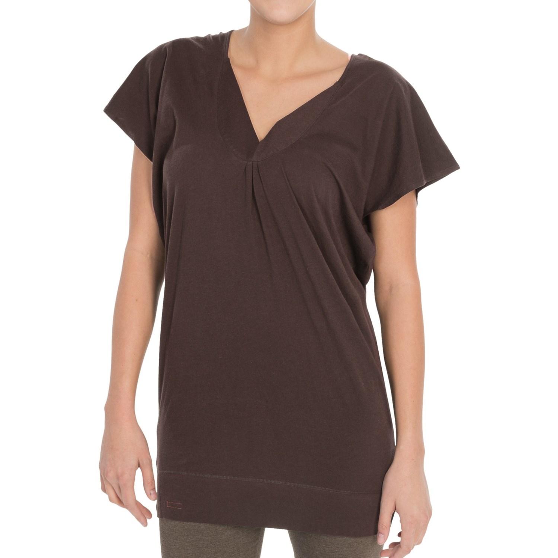 Alternative apparel pima cotton tunic shirt deep v neck for Is a tunic a dress or a shirt