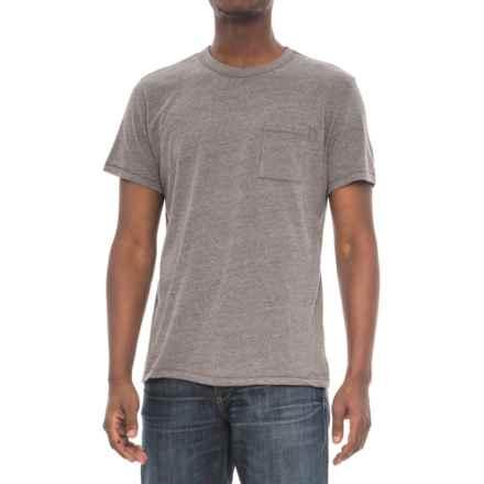 Alternative Apparel Pocket Keeper T-Shirt - Short Sleeve (For Men) in Vintage Coal - Overstock