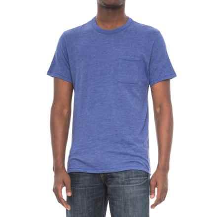 Alternative Apparel Pocket Keeper T-Shirt - Short Sleeve (For Men) in Vintage Royal - Overstock