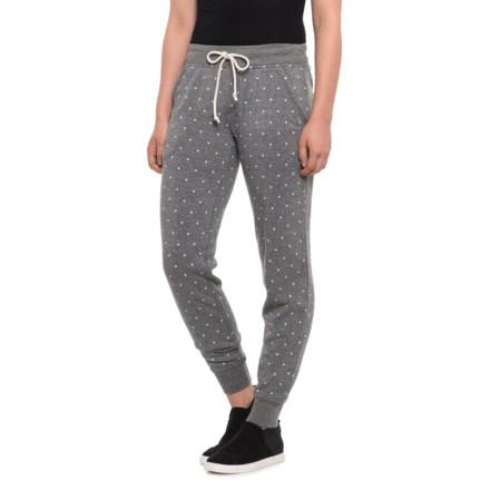 1f1b4e5429e279 Alternative Apparel Printed Eco-Fleece Joggers (For Women) in Eco Grey Pin  Dot