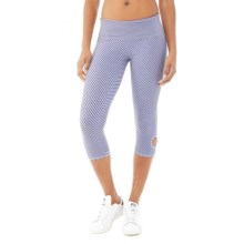 Alternative Apparel Pull-Up Print Leggings - Organic Cotton-Lycra® (For Women) in Purple Jewel Stripe - Closeouts
