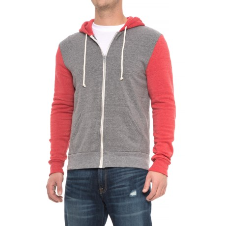 Alternative Apparel Rocky Color-Block Eco-Fleece Hoodie - Zip Front (For Men)