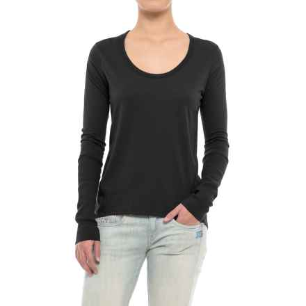 Alternative Apparel Satin Jersey T-Shirt - Long Sleeve (For Women) in Black - Closeouts