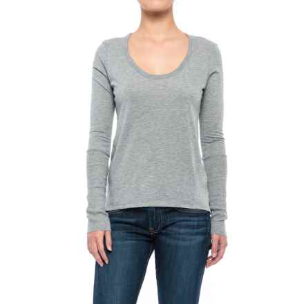 Alternative Apparel Satin Jersey T-Shirt - Long Sleeve (For Women) in Heather Grey - Closeouts