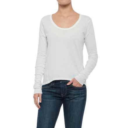 Alternative Apparel Satin Jersey T-Shirt - Long Sleeve (For Women) in White - Closeouts