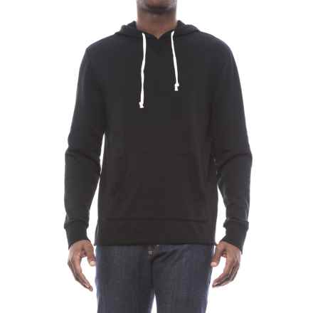 Alternative Apparel School Yard Burnout French Terry Hoodie (For Men) in True Black - Closeouts
