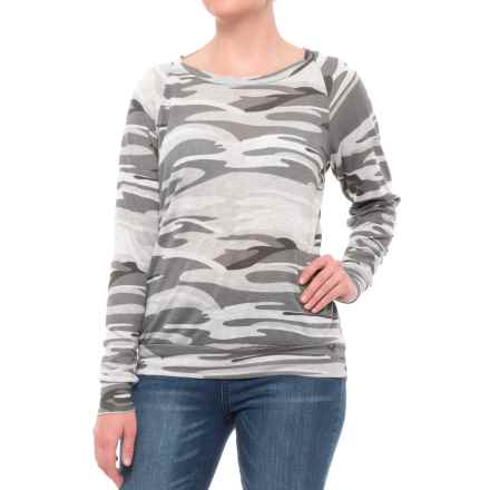 Alternative Apparel Slouchy Pullover Shirt - Scoop Neck, Long Sleeve (For Women) in Oatmeal Camo - Closeouts