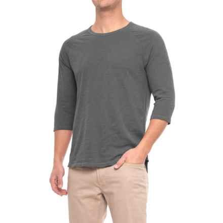 Alternative Apparel Slub Baseball T-Shirt - 3/4 Sleeve (For Men) in Coal - Overstock