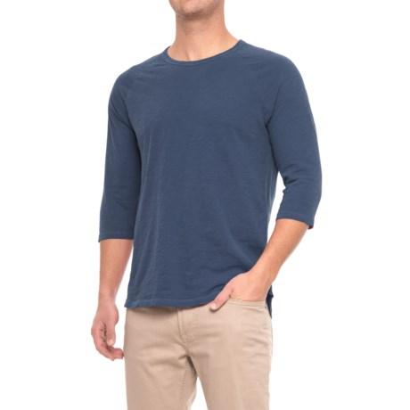 Alternative Apparel Slub Baseball T-Shirt - 3/4 Sleeve (For Men) in Midnight