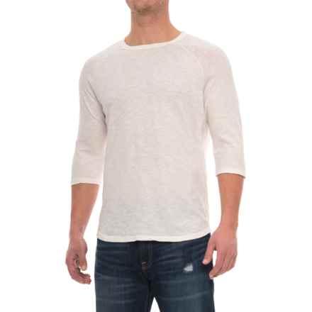 Alternative Apparel Slub Baseball T-Shirt - 3/4 Sleeve (For Men) in White - Overstock