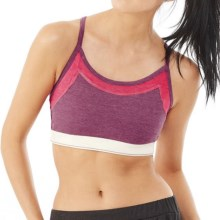 Alternative Apparel Stretch It Out Sports Bra - Low Impact (For Women) in Eco True Berry Multi - Closeouts