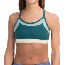 Alternative Apparel Stretch It Out Sports Bra - Low Impact (For Women) in Eco True Blue Coral Multi - Closeouts