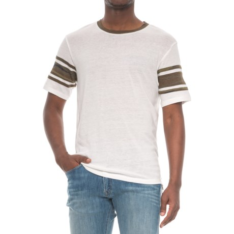 Alternative Apparel Touchdown T-Shirt - Short Sleeve (For Men) in Eco Ivory