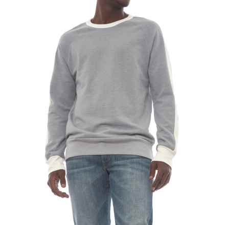 Alternative Apparel University Vintage French Terry Sweatshirt (For Men) in Smoke Grey/Porcelain - Closeouts