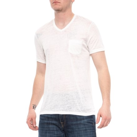 afe7c53ff Alternative Apparel Vintage White Leo V-Neck T-Shirt - Short Sleeve (For