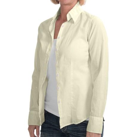 Alternative Apparel Woven Shirt - Button-Up, Long Sleeve (For Women) in Light Yellow