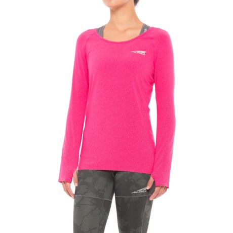 Altra High-Performance Running T-Shirt - Long Sleeve (For Women) in Beetroot