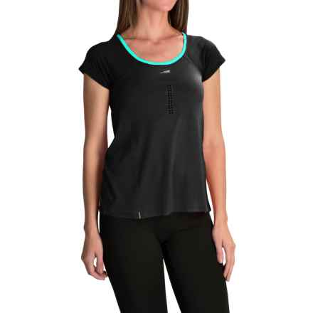 Altra High-Performance T-Shirt - Short Sleeve (For Women) in Black/Peacock - Closeouts