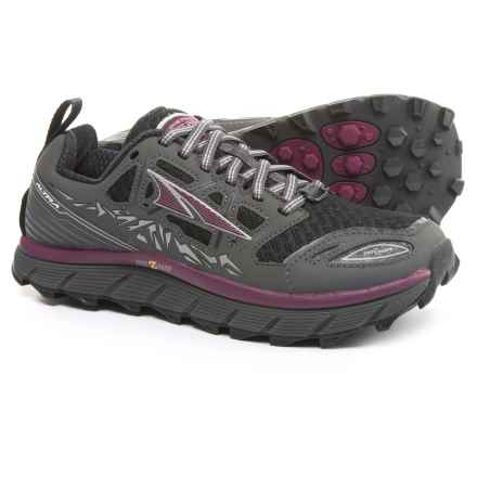 Altra Lone Peak 3 Trail Running Shoes (For Women) in Black/Purple - Closeouts