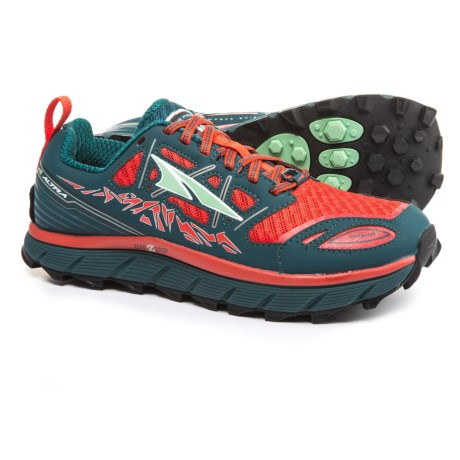 Altra Lone Peak 3 Trail Running Shoes (For Women) in Red/Deep Sea