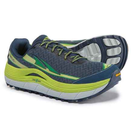 Altra Olympus 2 Trail Running Shoes (For Men) in Blue Lime/Green - Closeouts
