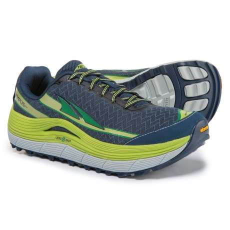Altra Olympus 2 Trail Running Shoes (For Men) in Blue Lime/Green