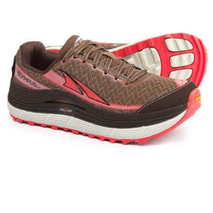 Altra Olympus 2.0 Trail Running Shoes (For Women) in Brown/Coral - Closeouts