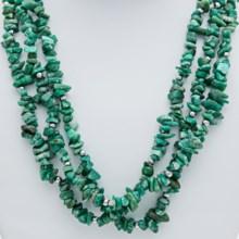 """Aluma USA 20"""" Russian Amazonite Necklace - Three Strand in Amazonite/Sterling Silver - Closeouts"""