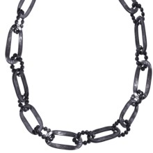 """Aluma USA 35.5"""" Link Necklace - Mother-of-Pearl, Agate in Grey/Mop - Closeouts"""
