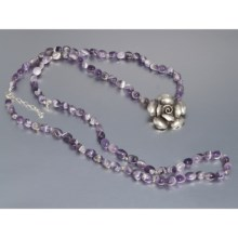 Aluma USA Amethyst Necklace - Convertible in Amethyst/Sterling Silver - Closeouts
