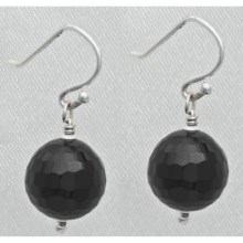 Aluma USA Faceted Onyx Drop Earrings in Onyx - Closeouts