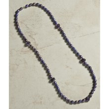 "Aluma USA Freshwater Pearl and Amethyst Necklace - 36"" in Pearl/Amethyst - Closeouts"