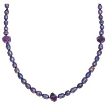 Aluma USA Freshwater Pearl and Amethyst Necklace in Lavender Fwp/Amethyst - Closeouts