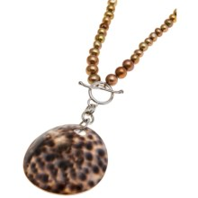 Aluma USA Freshwater Pearl Necklace - Color Enhanced in Bronze - Closeouts
