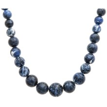 Aluma USA Graduated Sodalite Necklace in Sodalite/Sterling Silver - Closeouts