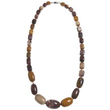 Aluma USA Mookaite Long Necklace in Mookaite - Closeouts