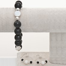 Aluma USA Onyx Bracelet and Earrings Set in Onyx - Closeouts
