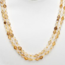 "Aluma USA Two-Strand Quartz Necklace - 18"" in Yellow - Closeouts"