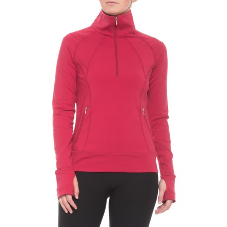 Alyssa Base Layer Top – Zip Neck, Long Sleeve (For Women)