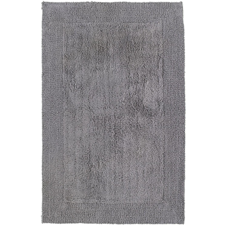 Am Home Textiles Charcoal Cotton Border Bath Rug 27x42