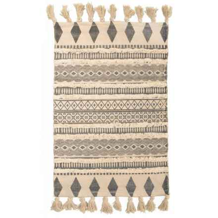 """AM Home Textiles Cotton Scatter Rug - 24x36"""" in Grey - Closeouts"""