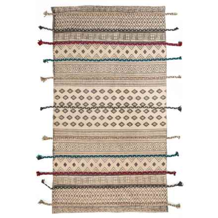 """AM Home Textiles Cotton Scatter Rug - 27x45"""" in Grey/Blue - Closeouts"""
