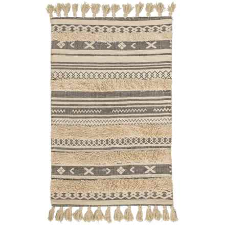 """AM Home Textiles Cotton Scatter Rug - 30x48"""" in Grey - Closeouts"""
